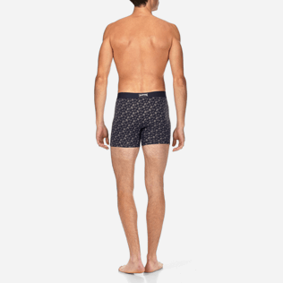 Men 047 Printed - Turtles Boxer, Navy backworn
