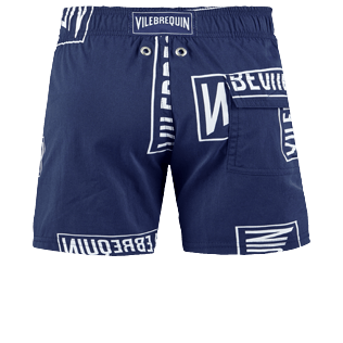 Bambino Altri Stampato - Boys Swimwear Stretch Vilebrequin labels, Blu marine back