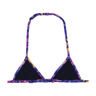 Girls Others Printed - Girls triangle bikini Top Phuket, Sea blue back