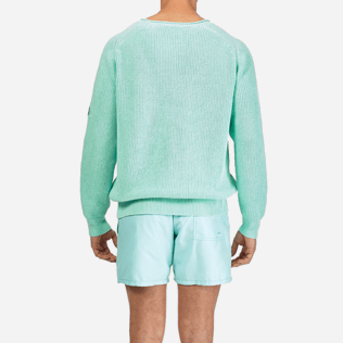 Men Others Solid - Men Cotton Linen Pullover Solid, Lagoon supp2