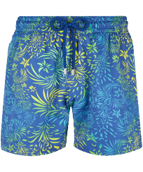 Men Stretch classic Printed - Men Swimwear Stretch Evening Birds, Batik blue front
