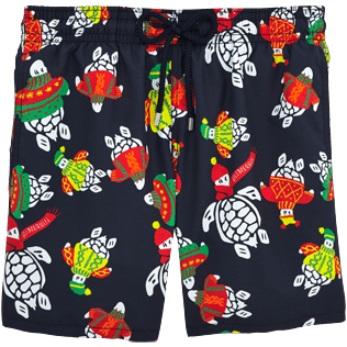 Men Classic / Moorea Printed - Sweater Turtles Swim shorts, Navy front
