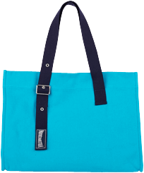 Others Solid - Big Cotton Beach Bag Solid, Light azure front