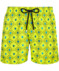 Men 017 Embroidered - Men Swimwear Embroidered Squad Turtles - Limited Edition, Chartreuse front