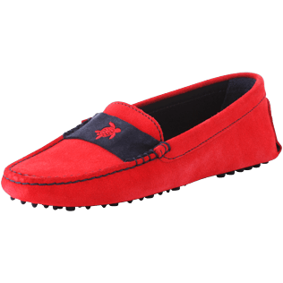 Women Others Solid - Women Very soft Daim Loafers Solid, Red polish back