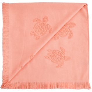 Others Solid - Unisex Beach Towel Fouta Jacquard Tortues, Blush back