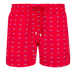 Men Stretch classic Printed - Men Swimwear Stretch Crabs, Medicis red front