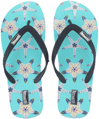 Men Others Printed - Men Flip Flops Starfish Dance, Lazulii blue front