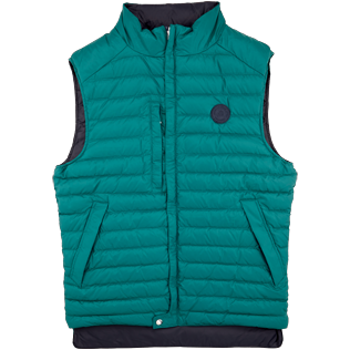 Others Solid - Unisex Sleeveless Down Jacket Solid, Pine wood front