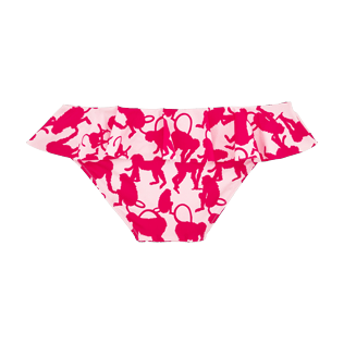 Girls Others Printed - Girls Bikini Bottom Happy Monkeys, Peony back