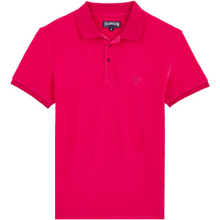 Men Others Solid - Men Terry Cloth Polo Shirt Solid, Gooseberry red front