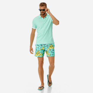 Men Classic Printed - Men swimtrunks Martha's Vineyard, Mint supp2