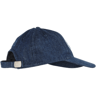 Men Others Solid - Men Denim Baseball Cap Vintage Vilebrequin Logo, Medium denim w5 back