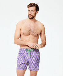 Men Ultra-light classique Printed - Men Swimwear Ultra-light and packable Indian Ceramic, Madras frontworn