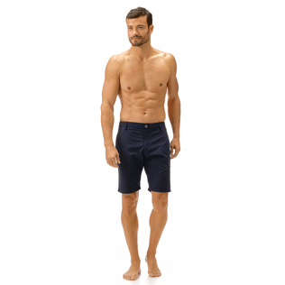 Men Others Solid - Men Straight Swimwear fabric Bermuda Shorts Solid, Navy frontworn
