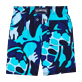 Boys Classic / Moorea Printed - Camouflage Turtles Superflex Swim Shorts, Azure back