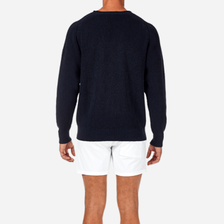 Homme Pulls Uni - Pull Over Coton Lin, Bleu jean supp2