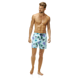 Homme BRODES Brodé - Maillot de bain Mistral Broderie Tortues Multicolores All Over, Lagon frontworn