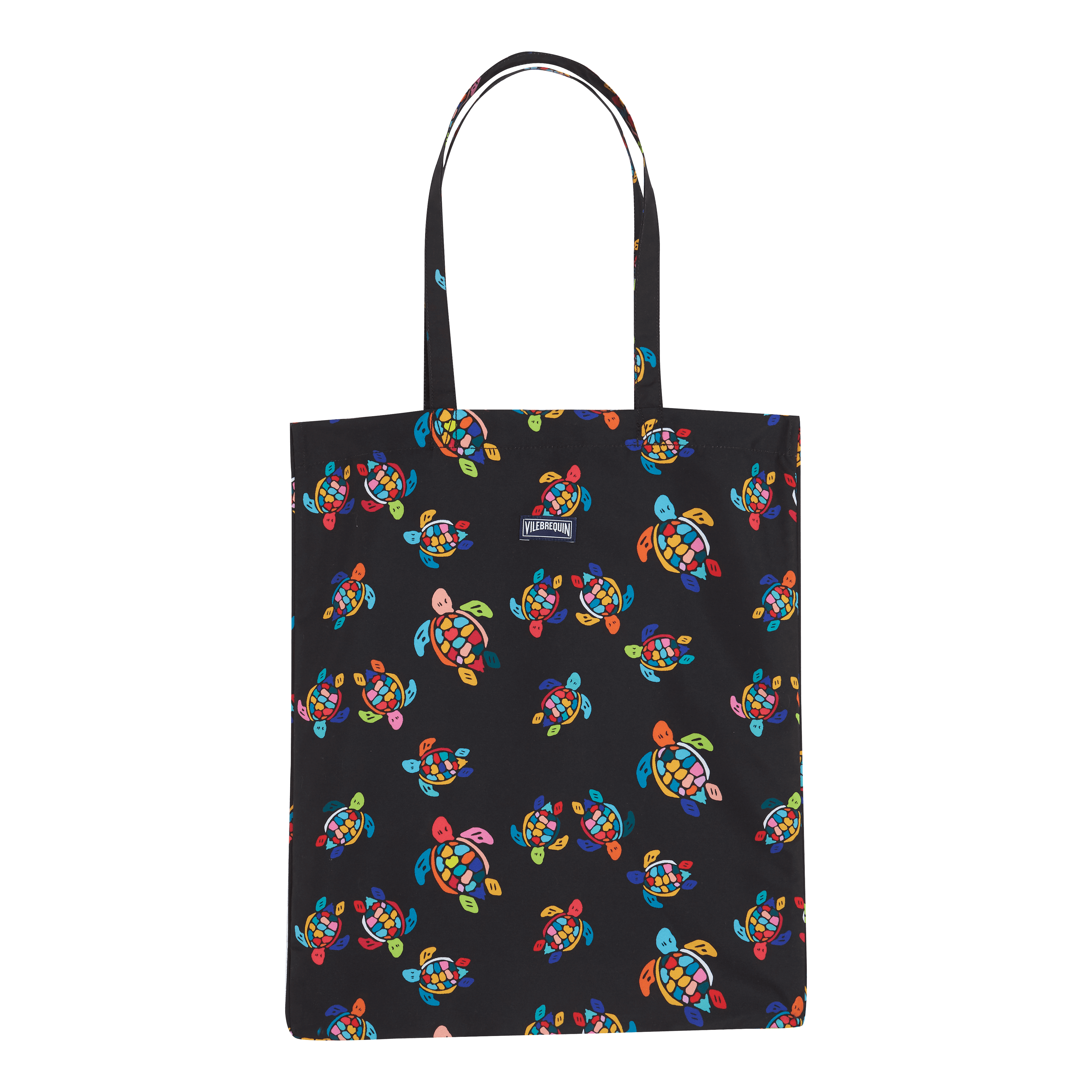 Vilebrequin Tote Bag Over The Rainbow Turtles In Black