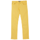 Homme 111 Uni - Pantalon Homme 5 poches Lyocell, Curry front