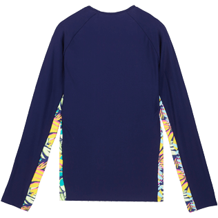 Women Others Printed - Women Rashguard Jungle, Midnight blue back