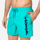 Men Classic Embroidered - Men Swim Trunks Placed Embroidery Le Vilebrequin, Veronese green supp1
