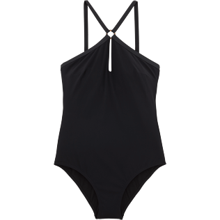 Women One Piece Solid - Smoking One piece, Black front