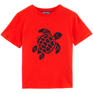 Boys Tee-Shirts Printed - Turtles Tee Shirt, Poppy red front