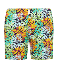 Men Flat belts Printed - Men Swim Trunks Flat Belt Stretch Jungle, Midnight blue front