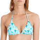 Women Triangle Printed - Women Triangle Bikini Top Bateaux sur l'eau, Lagoon supp1