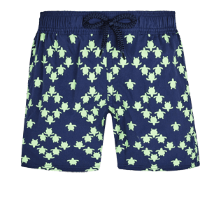 Boys Others Printed - Boys Swim Trunks Stretch Squad Turtles, Navy front
