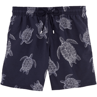 Men Classic / Moorea Printed - Galuchat Turtle Swim shorts, Navy front
