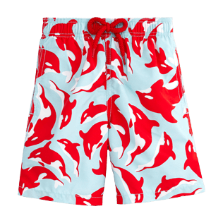Boys Classic / Moorea Printed - Galak Swim Shorts, Frosted blue front