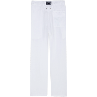 Women Others Solid - Women Linen Pants Solid, White back