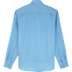 Men Shirts Solid - Classic Linen Shirt, Sky blue back
