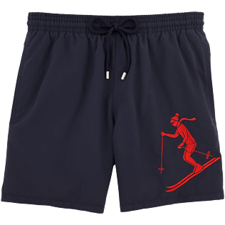 Men Classic / Moorea Embroidered - Ski Resort Embroidered Placed embroidered Swim shorts, Navy front