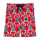 Boys Classic / Moorea Printed - Primitive Turtles Superflex Superflex Swim Shorts, Poppy red front