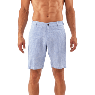 Men Shorts Graphic - Micro Stripes Straight bermuda, Ultramarine supp2
