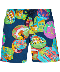 Boys Others Printed - Boys Swim Trunks Stretch Indian Resorts, Goa front