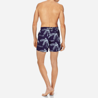 Men Embroidered Embroidered - Men Swimtrunks Embroidered Palmiers - Limited Edition, Amethyst backworn