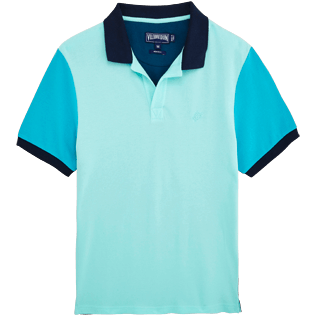 Men Polos Solid - Multicolor Cotton pique polo, Unique front