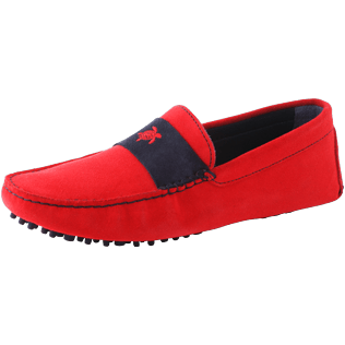 Men Others Solid - Men Very soft Daim Loafers Solid, Red polish back
