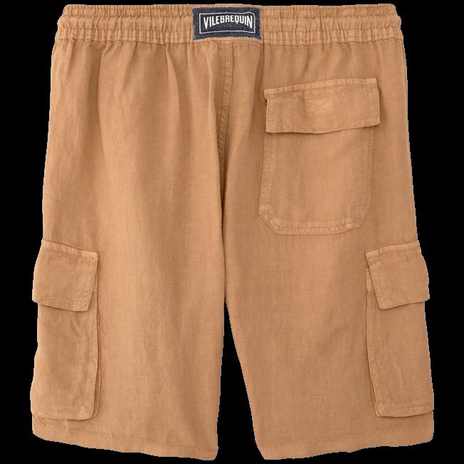 Vilebrequin - Bermudas lisas de lino con bolsillos de fuelle - 2