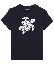 Men Others Printed - Men Organic Cotton T-Shirt Turtle Team, Navy front
