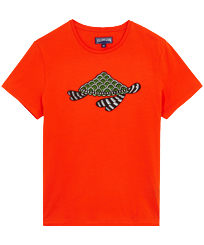 Men Others Printed - Men Cotton T-Shirt Turtle Swim, Medlar front