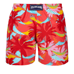 Men Classic Printed - Men Swimwear Ibiza, Hibiscus back