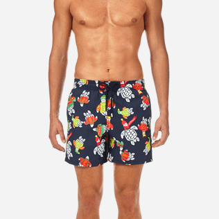 Men Classic / Moorea Printed - Sweater Turtles Swim shorts, Navy supp1