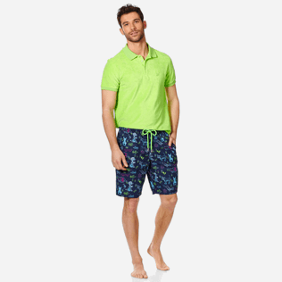 Men Long classic Printed - Men Swim Trunks Long Rabbits and Poodles - Florence Broadhurst, Navy supp2
