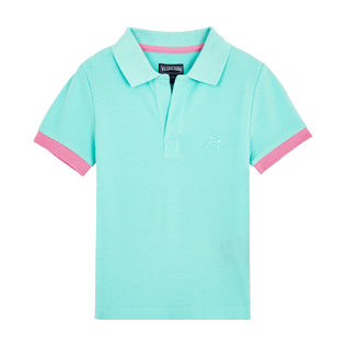 Boys Others Solid - Cotton Boys Polo Shirt Solid, Acqua front