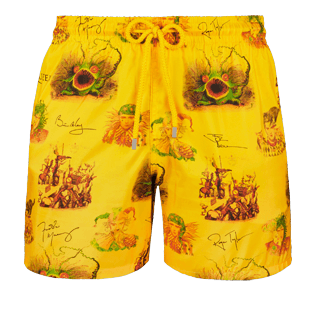 Men Ultra-light classique Printed - Men Ultra-Light and packable swimtrunks Joker Queen, Christophine front